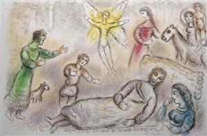 la paix retrouvée (from l'odyssée suite) by marc chagall