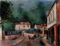 place de village by maurice de vlaminck