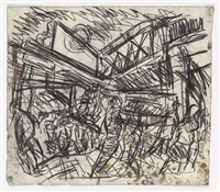 the flower stall, embankment station by leon kossoff