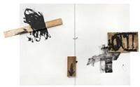 tres fustes sobre blanc by antoni tàpies