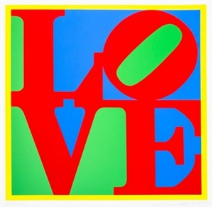 heliotherapy love by robert indiana