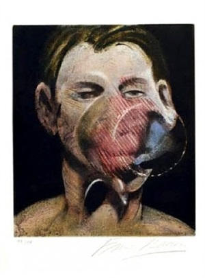 3 studies for a portrait of peter beard i by francis bacon