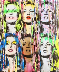 kate moss #4 by mr. brainwash