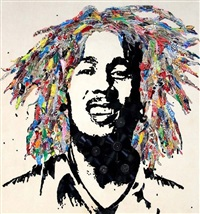 bob marley by mr. brainwash