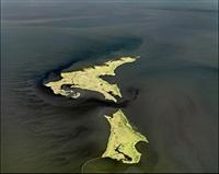 oil spill #14, marsh islands, gulf of mexico, june 24, 2010 by edward burtynsky