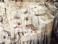rock of ages #9, active granite section, wells-lamson quarry, barre, vermont by edward burtynsky