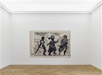 3 figures (installation view) by william kentridge