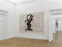 carte de l'europe (shower woman) (installation view) by william kentridge