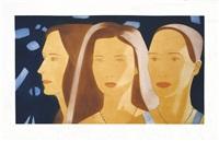 trio (jemma, chiara, ulla) by alex katz