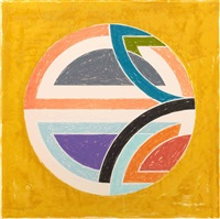 sinjerli variation squared with colored ground 1a by frank stella