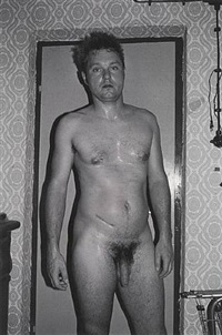 selbstportrait schnee, sauna, bubenreuth, germany by juergen teller
