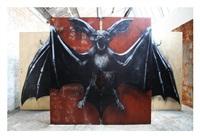 osborn bat installation by roa