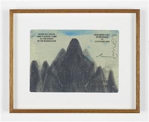 mountain skylines, dolomites italy by hamish fulton