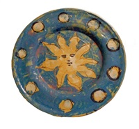 plate: blue sun by quentin bell