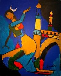 untitled (menaxi) by maqbool fida husain