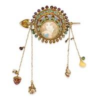 a gold corsage by alphonse mucha