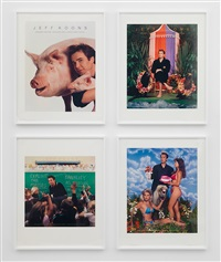 art magazine ads (art, flash art, art in america, and art forum) by jeff koons
