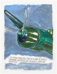 no title (the media mobilizes...) by raymond pettibon
