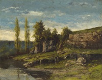 landscape in the franche-comté by gustave courbet