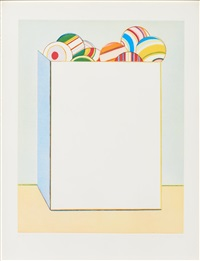 boxed balls by wayne thiebaud