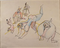 acrobats by george grosz