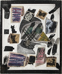 f. clemente (frank stella's ass) by ray johnson