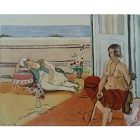 odalisque on the terrace by henri matisse