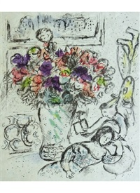 anemones by marc chagall