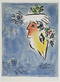 le ciel bleu (the blue sky) by marc chagall
