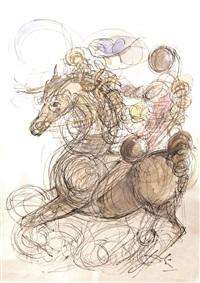 maitre et cheval by salvador dalí