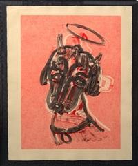 untitled / man ray devil angel dog by william wegman