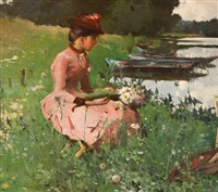 by the river by ferdinand heilbuth