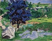 purple tree by stuart davis