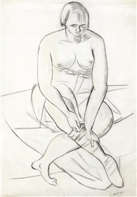 seated nude by max beckmann