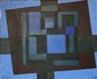 in the blue square by werner drewes