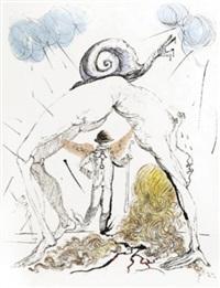 femme a l'escargot (woman with snail) by salvador dalí