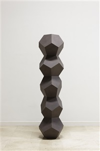 stack of five pentagon forms irregular oiled 1 by angela bulloch