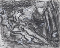 from cézanne 'pastoral (idyll)' by leon kossoff