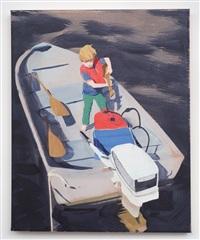 untitled (boy on boat) by sebastian blanck