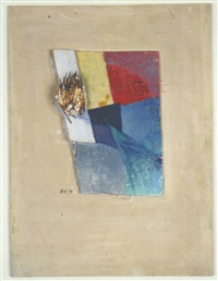 untitled (the nail picture) (das nagelbild) by kurt schwitters