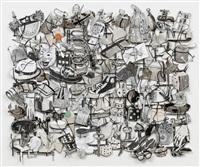loose tapestry of daily life (binoculars) by jane hammond