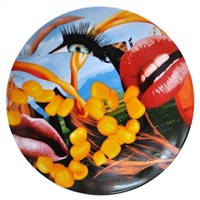 lips coupe service plate by jeff koons