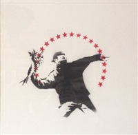 flower thrower by banksy