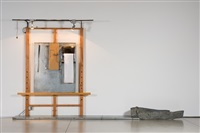 white easel with wooden hand (from the white easel series) by edward and nancy kienholz