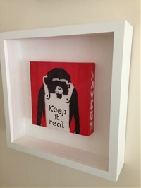 keep it real monkey by banksy
