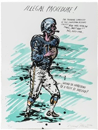 illegal procedure by raymond pettibon