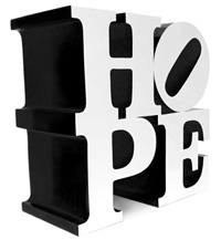 hope (white/black) by robert indiana
