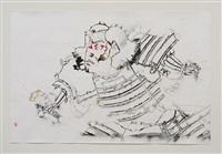 study of southland standoff (black warrior) by gajin fujita