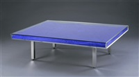 table blue by yves klein
