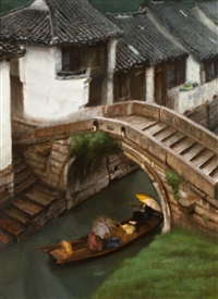leisurely boat ride (suzhou, china) by chen yifei